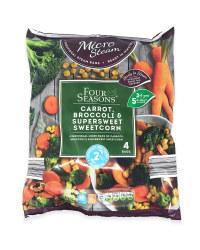 Carrots, Broccoli & Sweetcorn