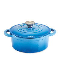 20cm Small Cast Iron Dish - Blue