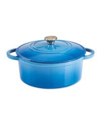 Cast Iron Casserole Dish With Lid - Blue