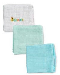 Caterpillar Muslin Cloths