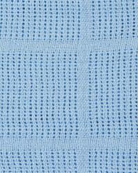 Cellular Blanket with Satin Trim - Blue