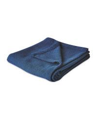 Large Dark Blue Cellular Blanket