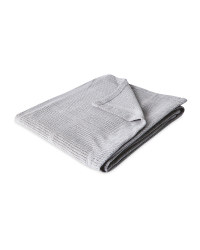 Large Grey Cellular Blanket
