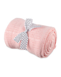 Cellular Large Blanket - Pink