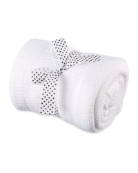 Cellular Large Blanket - White