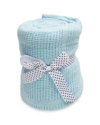 Lily & Dan Large Cellular Blanket - Blue