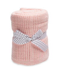 Lily & Dan Large Cellular Blanket - Pink