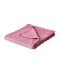 Large Pink Cellular Blanket