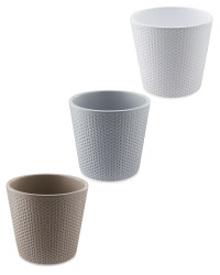 Dimpled Ceramic Pot