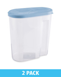 Cereal Containers 2Pk - Blue