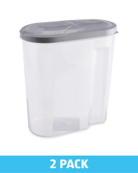 Cereal Containers 2Pk - Silver