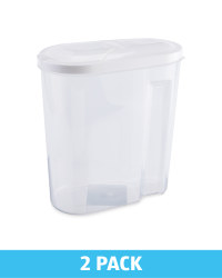 Cereal Containers 2Pk - White