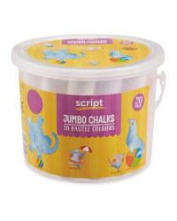 Jumbo Chalk Tub - Pastel