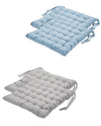 Chambray Seat Pads 2-Pack