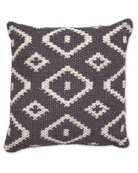 Charcoal Diamond Cushion