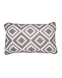Charcoal Diamond Rectangular Cushion