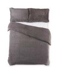 Charcoal Double Fleece Duvet Set