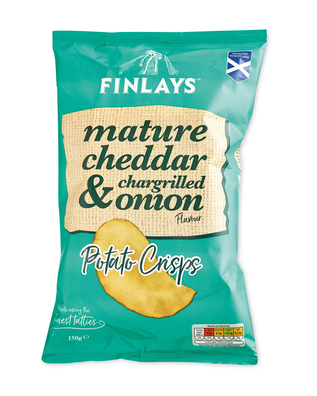 Cheddar & Onion Potato Crisps