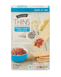 Cheese & Black Pepper  Thins