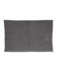 Chenille Bobble Bath Mat - Grey