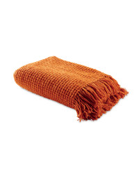 Chenille Throw - Orange