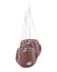 Chestnut Ball Hanging Basket 2 Pack