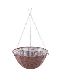 Chestnut Round Hanging Basket 14''