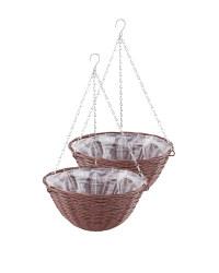 Chestnut Round Hanging Basket 2 Pack