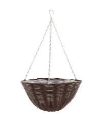 Chestnut Round Hanging Basket