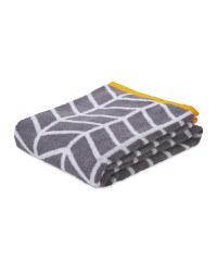 Chevron Patterned Bath Towel