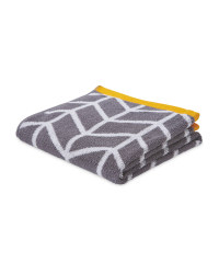 Chevron Patterned Hand Towel