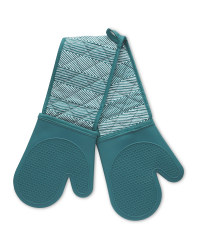 Teal Silicone Double Oven Glove