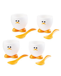 Chicken Egg Cups & Spoons Bundle