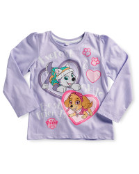Children's Paw Patrol Sleeved Top - Lilac