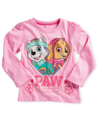 Children's Paw Patrol Sleeved Top - Pink