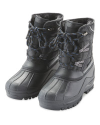 Crane Children's Snow Boots - Black/Blue
