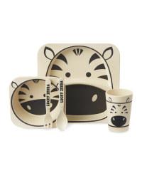 Children's Bamboo Zebra Dinner Set