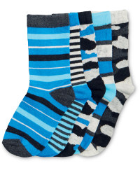 Children's Blue Camo Socks Pack of 5