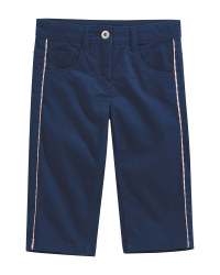 Children's Blue Cropped Trousers