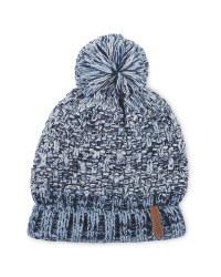 Crane Children's Blue Pompom Hat
