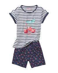 Children's Cherry Design Pyjamas