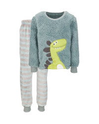 Children's Dinosaur Fleece Pyjamas