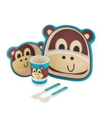 Children's Monkey Bamboo Dinner Set
