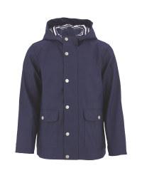 Children's Navy Raincoat