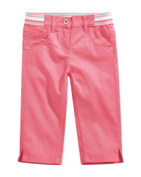 Children's Pink Cropped Trousers