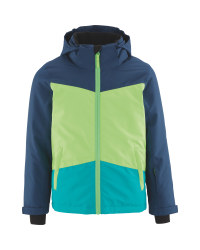 Crane Children's Ski Jacket - Blue/Green
