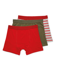 Children's Red Mixed Trunks 3 Pack