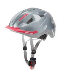 Children's Silver/Pink Bike Helmet