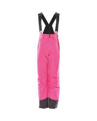 Crane Children's Ski Salopettes - Pink