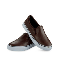 Children's Slip-On Sneakers - Brown